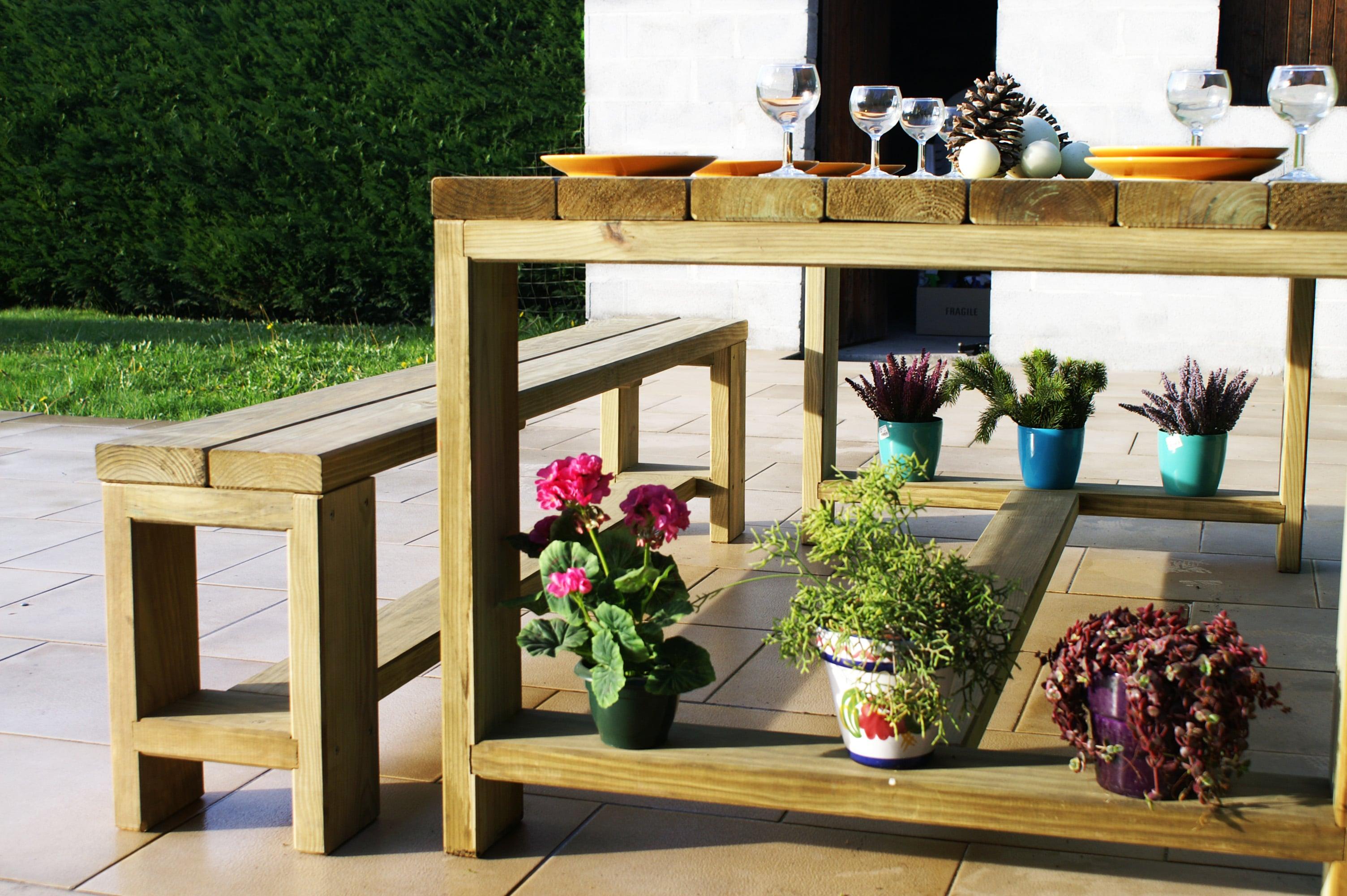 Le mobilier de plein air, tables, bancs, salons de jardins | Labat Merle
